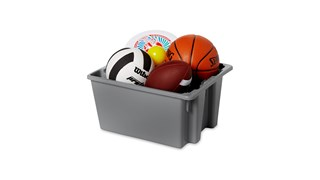 The Rubbermaid Commercial Palletote® storage containers are an effective storage solution with a durable stackable nestable design that withstands hot and cold conditions.