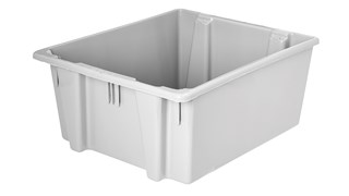 The Rubbermaid Commercial Palletote® storage containers are an effective storage solution with the durable stackable nestable design that withstands hot and cold conditions.