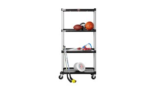 Store, organize and transport in style with durable and attractive shelving units.