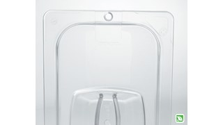 The Rubbermaid Commercial Food Storage Lid for Food/Tote Box helps reduce food spoilage costs.