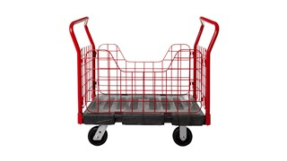 "The Rubbermaid Commercial Side Panel Platform Truck 24""X36"" with 6""TPR casters, 1000 lb. capacity"