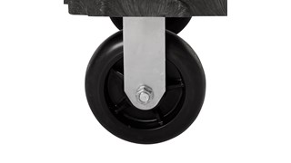 "The Rubbermaid Commercial Side-Panel Platform Truck with 8"" TPR casters, 2000 lb. capacity. Ideal for moving large, heavy, oversized loads in a variety of environments from retail to construction."