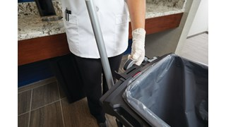 The Rubbermaid Commercial Slim Jim® Rim Caddy is a purpose-built solution to store and transport common cleaning tools when collecting waste in the tightest spaces.