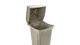 The Rubbermaid Commercial Ranger® Classic Trash Cans feature Rubbermaid's famous durability, modern styling, and easy-to-service design.