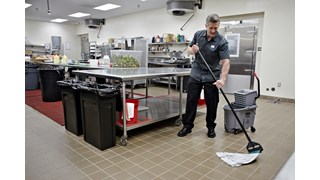 """Invader® Side-Gate Mop Handle makes removing and replacing mop heads easy and efficient. Thumbwheel clamps the mop firmly in place; should be used with 1""""  headband mops only."""