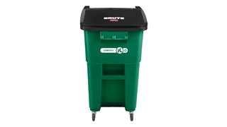The Rubbermaid Commercial Rollouts with Casters are ideal for collecting, consolidating, and transporting heavy facility waste. Front swivel casters distribute weight evenly for superior mobility and handling.