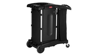 The Rubbermaid Commercial Executive Series Ultra-Compact Housekeeping Cart is an ergonomic and lightweight housekeeping solution.