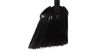 The Rubbermaid Commercial Executive Lobby Broom with Vinyl Handle is great for sweeping and cleaning in restaurants, malls, lobbies, and more.