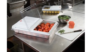 ProSave® Sliding lid helps provide an integrated solution by fitting on all clear food boxes.  The lid slides back or flips up for proper food storage and easy access.