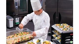 The Rubbermaid Commercial portioning scoops maintain food safety.