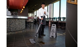 HYGEN™ PULSE™ Double-Sided Mop Kit combines dust and wet mopping with one convenient tool making floor cleaning faster than ever before.