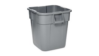 The Rubbermaid Commercial Square BRUTE® container offers up to 14% more capacity than round containers and is designed with professional-grade, heavy-duty plastic that won't rust, chip, or fade.