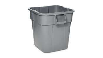 BRUTE® 28 Gal Square Container Gray