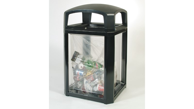 Decorative panel option for the Landmark Series® refuse collection. Can be used for both indoor and outdoor areas, including building entrances, lobbies and malls