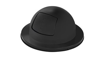 """The Steel Drum Dome Top is a self-closing """"push"""" door top that is Factory-Mutal (FM) approved when used with a Rubbermaid Commercial 30-gallon Steel Drum Container. Helps seal away unpleasant odors and unsightly waste."""