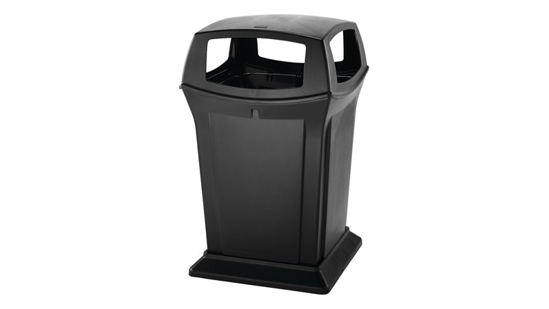 The Rubbermaid Commercial Ranger® Classic Trash Can features Rubbermaid's famous durability, modern styling, and easy-to-service design.