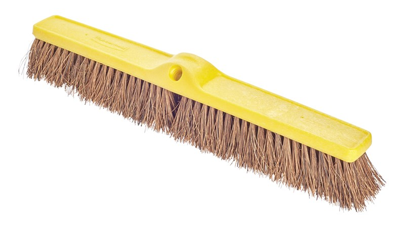 Heavy Duty Push Brooms Palmyra Fill 24 Heavy Duty Push Broom Plastic Foam Block Palmyra Fill Brown Rubbermaid Commercial Products