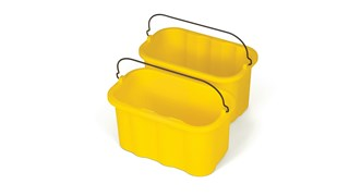 The Rubbermaid Commercial 10-Quart Caddy provides a quick and easy way to clean in tight places.