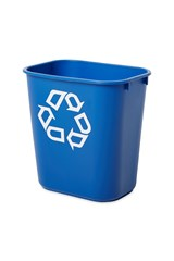 Wastebasket Recycling Small 13 QT Blue