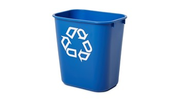 The Rubbermaid Commercial Deskside containers are space-efficient, economical, and an easy and an effective deskside recycling solution.