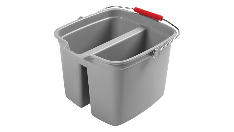 An easy-to-use cleaning system. Double pail for separation of cleaning solution and rinse water.