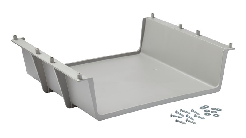 The Glass Rack for Traditional Housekeeping Carts provides users with additional storage for glassware or other supplies.