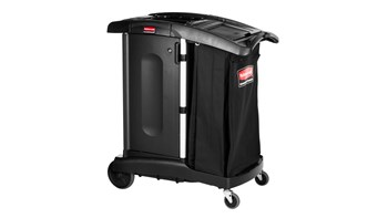 Executive Ultra-Compact Housekeeping Cart - High-Capacity, Black