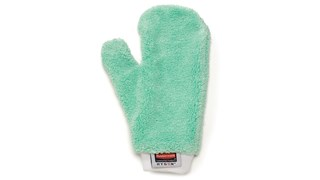 The Rubbermaid Commercial HYGEN™ Microfiber Mitts are double-sided to help make cleaning easier in crevices and around irregular surfaces.
