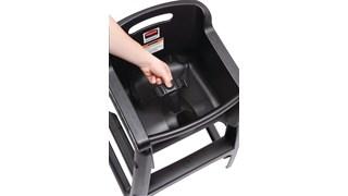 Microban Sturdy Chair™ High Chair with wheels