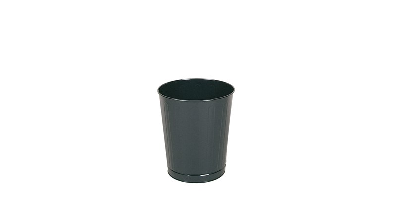 The Rubbermaid Commercial Open Top Steel Wastebaskets are fire-safe and puncture-resistant.