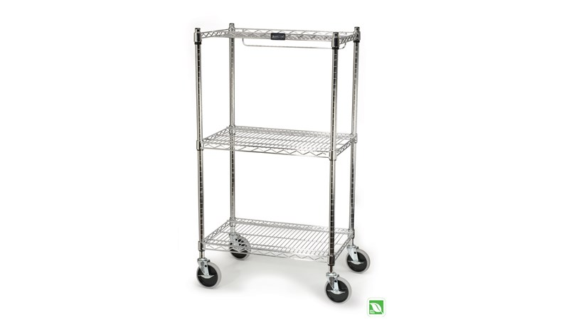 The Rubbermaid Commercial cart for shelf ingredient bins helps you store and transport bins throughout any operation.