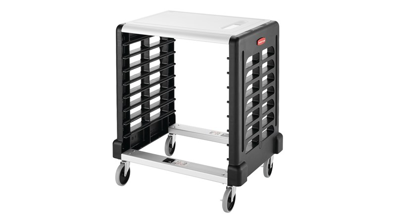 The Rubbermaid Commercial Racks and Carts increase efficiency by maximizing space, transportation, and storage