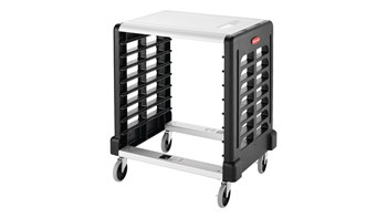 Side Loader for Food Boxes Prep Cart with Cutting Board