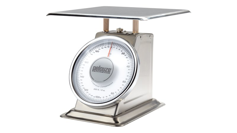 Heavy-duty platform scale for tabletop weighing.