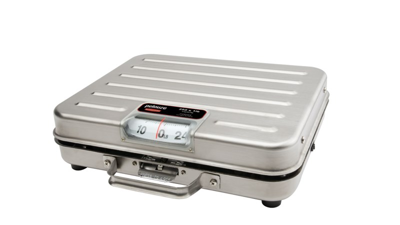 Low-profile receiving scale for foodservice, industrial, or office environments.