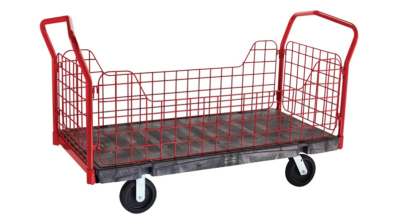 """The Rubbermaid Commercial Side Panel Platform 30""""X60"""" with 8""""TPR casters, 2000 lb. capacity"""