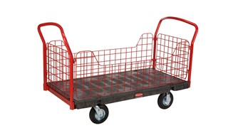 """The Rubbermaid Commercial Side Panel Platform 30""""X60"""" with 8"""" PNEUMATIC casters, 1200 lb. capacity"""