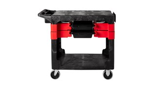 """Trades Cart with 5"""" Casters moves productivity right to the worksite as a complete tool storage and mobile workbench system."""