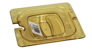 Heavy Duty hot insert pan cover with handle and notch, allowing spoon to be easily available while food remains covered