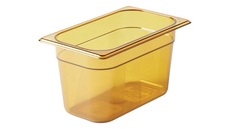 Heavy Duty Hot food pans in industry standard, gastronorm sizes.  Steam table and microwave safe