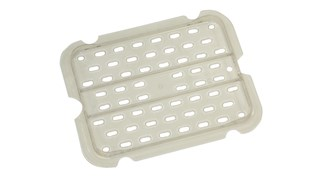 Drain tray for insert pans help improve air circulation, keeping food fresh longer.