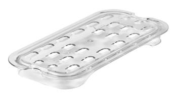 Drain tray for insert pans help improve air circulation, keeping food fresh longer.