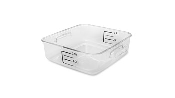 Crystal-Clear Square Storage Containers