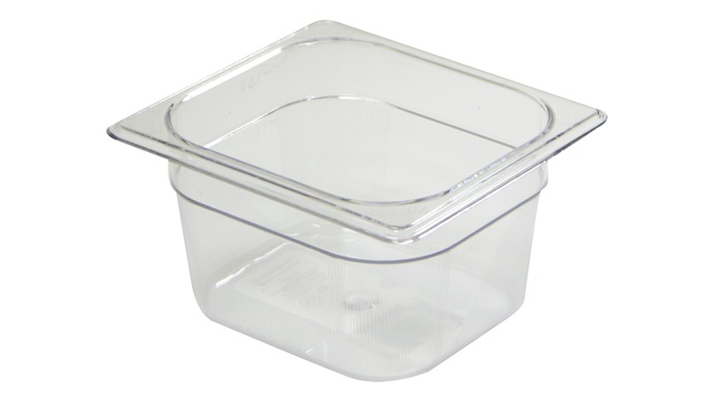 The Rubbermaid Commercial Cold Food Pan is break resistant, won't rust, dent, or bend, and is quieter than metal.