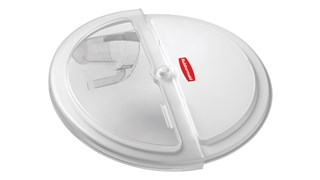 The Rubbermaid Commercial ProSave® sliding Lid and scoop for 32 gallon BRUTE® ingredient container