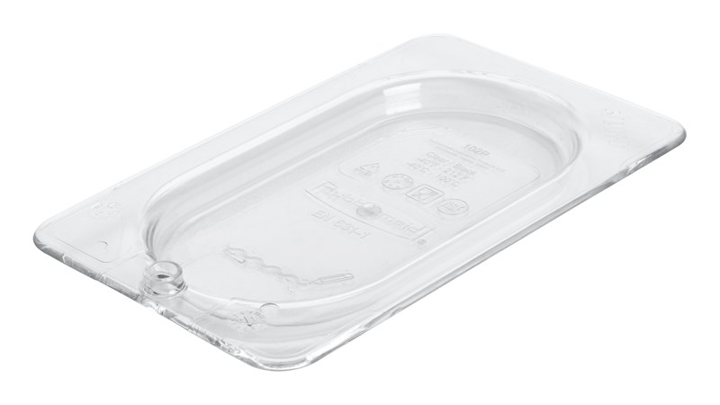Insert pan cover with peg hole for sanitary drying