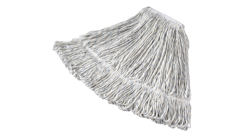 Swinger Loop® Finish Mop is designed with tightly twisted 8-ply yarn that inhibits linting and provides a smooth, even application of floor finish.
