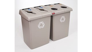 The Four-Stream Glutton® Recycling Station is a high-capacity, all-in-one centralized solution for efficient waste separation.