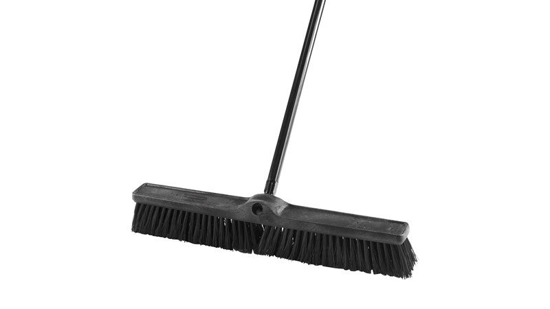 "Heavy Duty Sweep Push Broom 1861212 Executive 24"" is designed to pick up the finest debris."