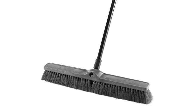 "Medium Sweep Push Broom 1861211 Executive 24"" is designed to pick up the finest debris."
